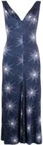 Paco Rabanne star print V-neck dress