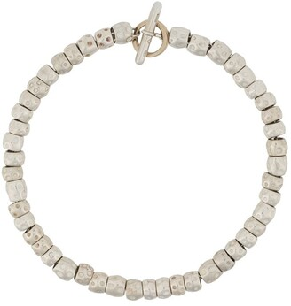 Dodo 18kt yellow gold and silver Granelli bracelet