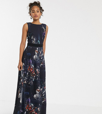 Little Mistress Tall sleeveless floral print longline dress