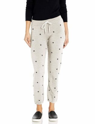 Monrow Women's Vintage Sweats w/All Over Star Embroidery