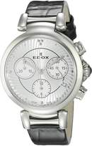 Edox Women's 10220 3C AIN LaPassion Analog Display Swiss Quartz Black Watch
