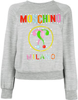 Moschino logo paper cut out sweatshirt - women - Polyester/Viscose - 36