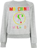 Moschino logo paper cut out sweatshirt - women - Polyester/Viscose - 40