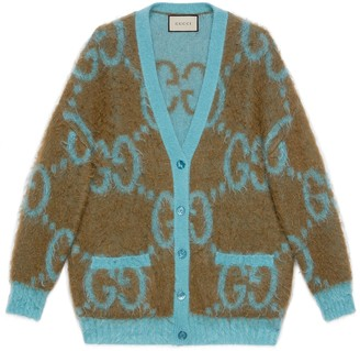 Gucci Reversible GG mohair wool cardigan