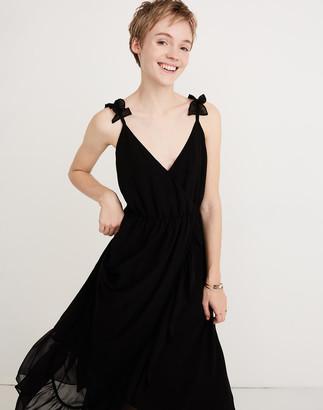 Madewell Petite Ruffle-Strap Wrap Dress