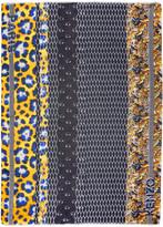 Kenzo Multicolor Icons Logo Scarf