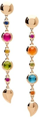 Tamara Comolli Bouton 18K Rose Gold & Multi-Stone Mismatched Long Drop Earrings