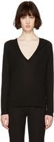 Proenza Schouler Black V-Neck Sweater