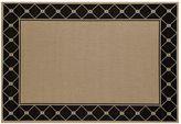 Art Carpet Plymouth Tied Framed Lattice Indoor Outdoor Rug
