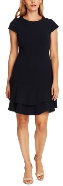 Vince Camuto Crepe Tiered Ruffled Dress