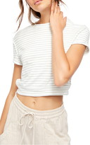 Free People Sabrina Stripe Cotton Blend Crop Top