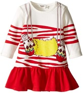 Junior Gaultier Jersey Dress with Trompe L'oeil Girl's Dress