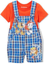 Children's Apparel Network PAW Patrol Orange Tee & Plaid Shortalls - Infant
