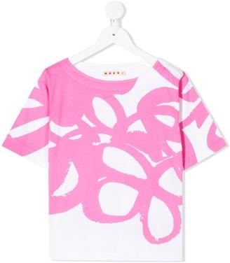 Marni stroke print T-shirt