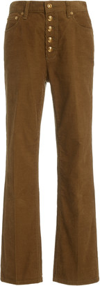 Tory Burch Corduroy Button-Fly Jean