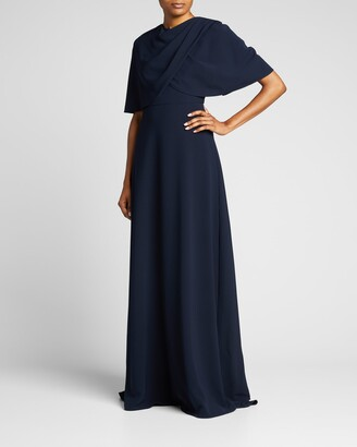 Lela Rose Capelet Gown