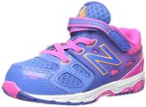 New Balance KA680 Infant Running Shoe (Infant/Toddler), Blue/Pink, 8.5 E US Toddler
