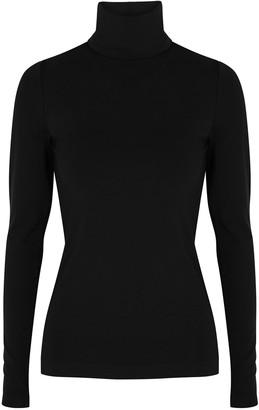 Wolford Aurora Black Roll-neck Jersey Top
