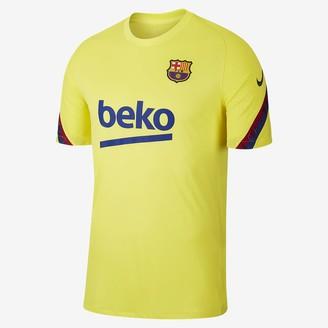 Nike Men's Short-Sleeve Soccer Top FC Barcelona Strike