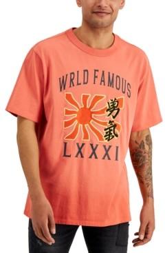 GUESS Men's World Famous Sun T-Shirt