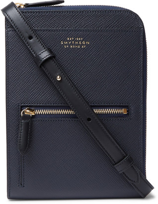 Smythson Panama Cross-Grain Leather Currency Wallet