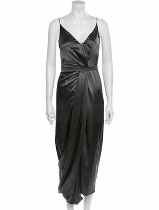 Narciso Rodriguez Silk Long Dress w/ Tags Silver