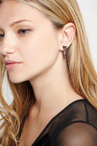 BCBGeneration Draped Chain Stud Earrings - Silver