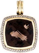 David Yurman Bi-Color Smoky Quartz & Diamond Albion Pendant