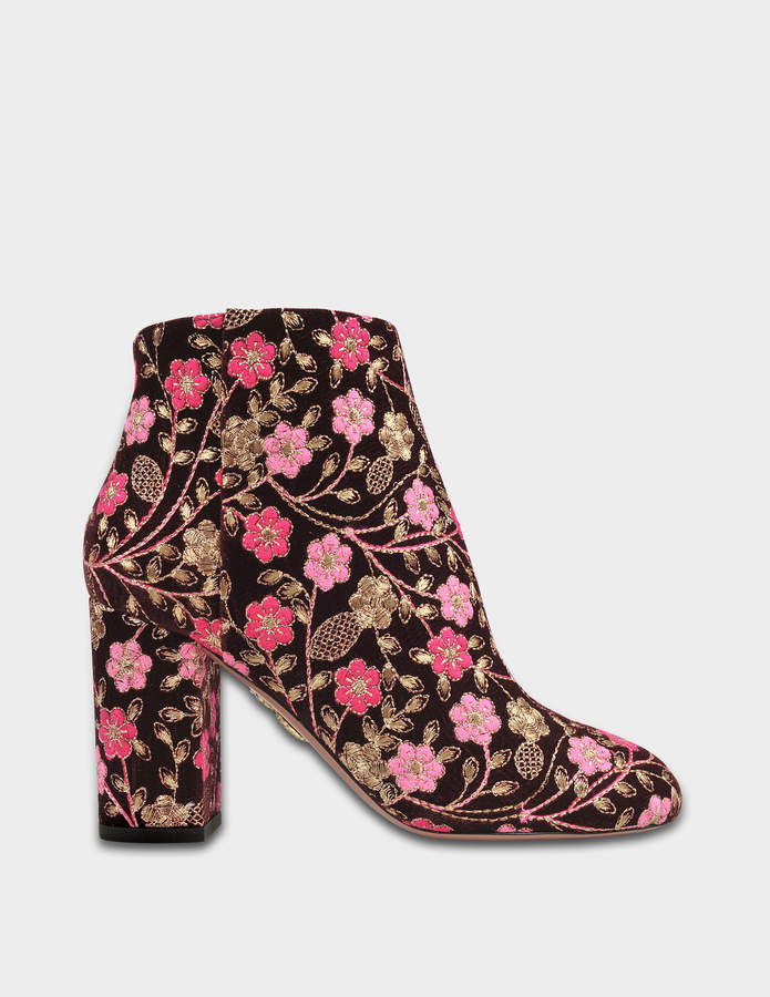 Aquazzura Brooklyn embroidered booties