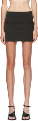 Nensi Dojaka SSENSE Exclusive Black Micro Mini Skirt