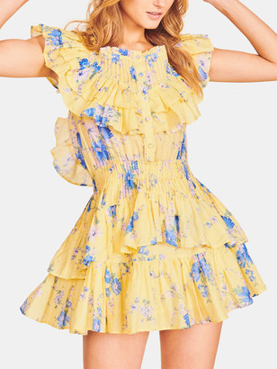 LoveShackFancy Fatima Ruffle Mini Dress
