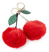Kate Landry Faux-Fur Cherry Pom Pom Key Fob