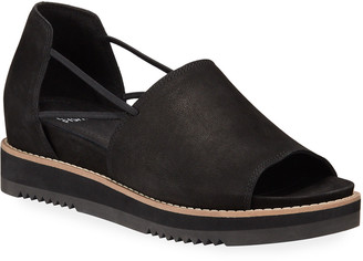 Eileen Fisher Ken Leather Wedge Sandals