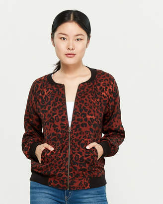 BeachLunchLounge Beach Lunch Lounge Leopard Print Bomber Jacket
