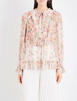Zimmermann Folly neck-tie silk-georgette blouse