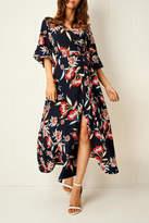 frontrow Navy Wrap Dress
