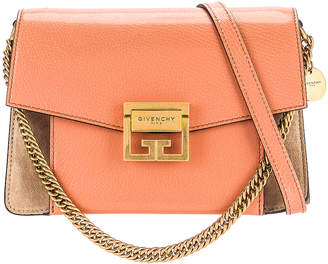 Givenchy Small Leather GV3 in Pale Coral & Taupe | FWRD