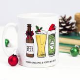 Of Life & Lemons 'Hoppy New Beer' Christmas Mug