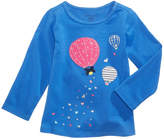 First Impressions Balloon-Print Long-Sleeve T-Shirt, Baby Girls, Created for Macy's
