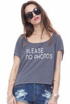 Local Celebrity No Photos Alexa Tee in Charcoal
