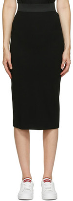 Dolce & Gabbana Black Pencil Mid-Length Skirt