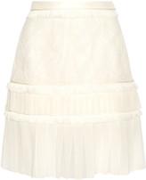 Jason Wu Paneled lace and silk-chiffon skirt