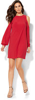 New York & Co. Cold-Shoulder Shift Dress