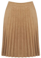 """Oasis PLEATED SUEDETTE SKIRT [span class=""""variation_color_heading""""]- Tan[/span]"""