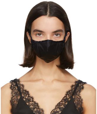Fleur Du Mal SSENSE Exclusive Black Silk Luxe Face Mask