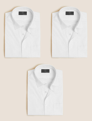 Marks and Spencer 3 Pack Tailored Fit Short Sleeve Shirts