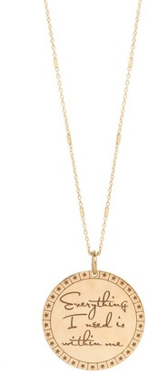 THE ALKEMISTRY Zoe Chicco 14ct Gold Everything You Need Is Within Me Necklace