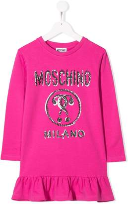 Moschino Kids TEEN marker logo jumper dress