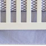 Oliver B Mix & Match Flat Panel Striped Crib Skirt in Navy/White