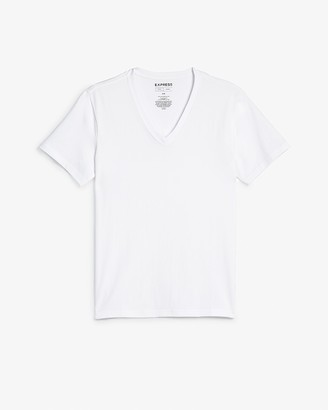 Express Slim Supersoft Deep V-Neck T-Shirt